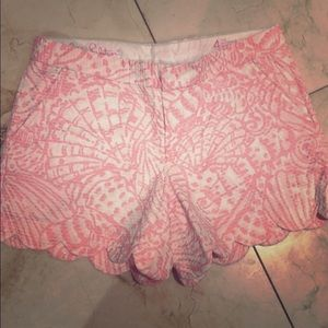 Lily Pulitzer Buttercup shorts. 5 inch hem.